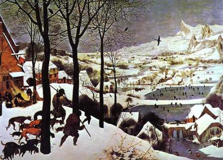 "Peter Brueghel el Vell, ""Caçadors en la neu"". Kuntshistorisches Museum, Viena"