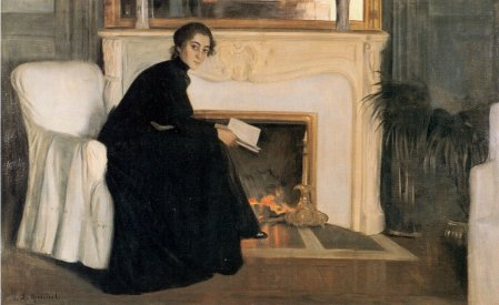 "Santiago Rusiñol, ""Novel.la romàntica"" (1894), MNAC"