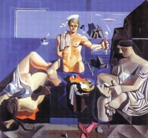 Salvador Dalí, Academia neocubista (1926). Museu de Montserrat