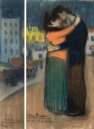 Picasso, L'abraçada (1900), Museu Picasso, Barcelona. Versió íntegra del quadre..