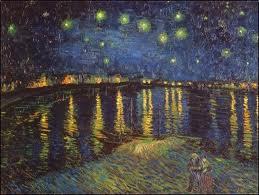 """Vincent Van Gogh, """"Nit estelada sobre el Roina"""" (1888) Musée d'Orsay, Paris"""