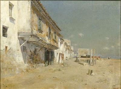 """Joan Roig  Soler, """"Carrer de Blanes"""", (s. XIX)"""