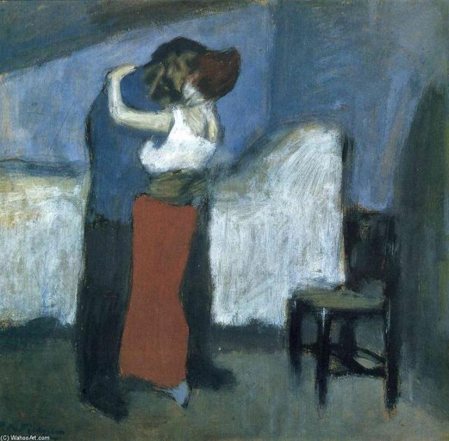 Picasso, L'abraçada (1900) Museu Puixkin, Moscú
