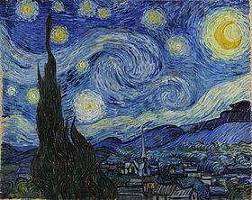 "Vincent Van Vogh, ""Nit estelada"" (1889). MOMA, NY"