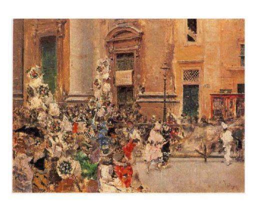 Marià Fortuny, Carnaval al corso de Roma (1873) Col. part.