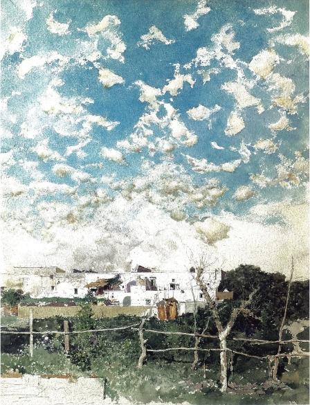 Marià Fortuny, Paisatge de Portici, 1874. Museu del Prado, Madrid.