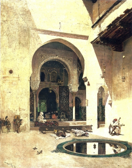Marià Fortuny, El tribunal de Justícia de L'Alhambra (1871). Fundació Gala - Salvador Dalí.
