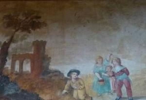 Pintures al fresc a la galeria del Museu Romàntic Can Llopis (c. 1793)