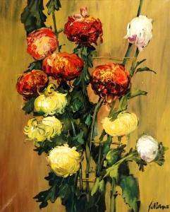 Les flors van esdevenir el tema permanent en la pintura de Serrano.