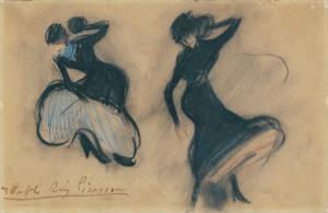Picasso, Dia de vent (c. 1900). Museu del Cau Ferrat.