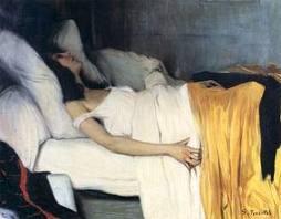 Santiago Rusiñol, La morfina (1894). Museu del Cau Ferrat.