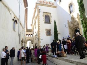 Entrada a una de les visites guiades al Palau de Maricel. Setembre 2013.