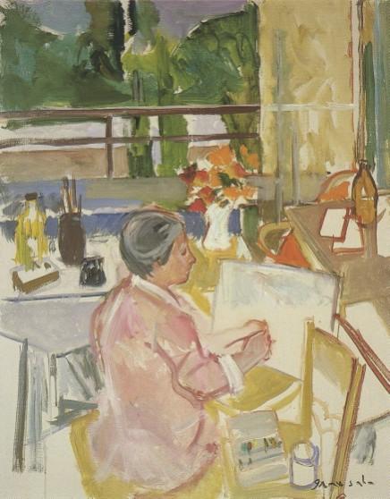 """Emili Grau Sala, """"Angeles Santos al seu taller de Sitges"""". Col·lecció particular"""