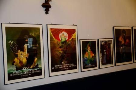 Els cartels dissenyats per Bruno, a mitjans dels anys setanta.