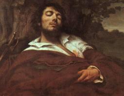 """Gustave Courbet, """"L'homme blessé"""" (1844-1854). Musée d'Orsay, Paris"""