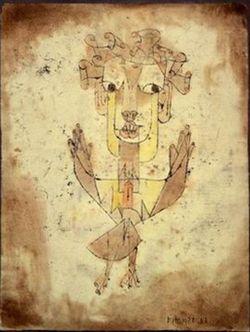 Paul Klee, L'Àngel de la Història (1920). Museu d'Israel, Jerusalem
