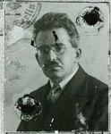 Walter Benjamin, en una foto de passaport.