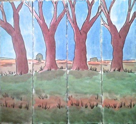 Paisatge amb quatre arbres, per Quim Curbet, 2014 (Col·lecció particular)