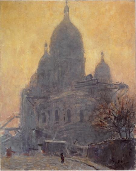 """Kees Van Dongen, """"Le Sacré Coeur, le matin"""" (c. 1904).  Monaco, Nouveau Musée National"""