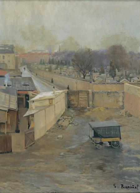 """Santiago Rusiñol, """"Cementiri de Montmartre"""" (1891), Museu del Cau Ferrat, Sitges"""