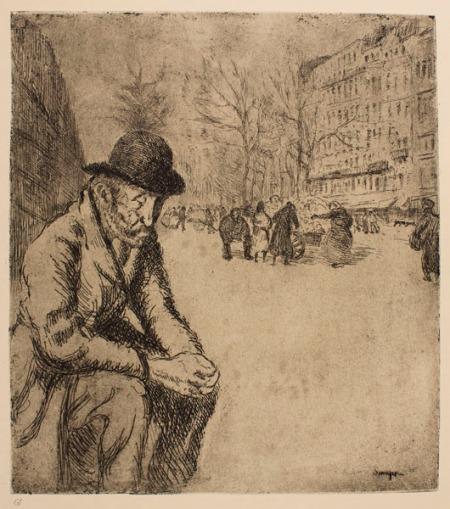 "Joaquim Sunyer, ""Le clochard"" (c. 1899). MNAC, Barcelona"