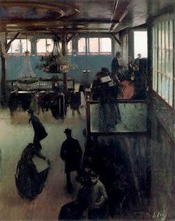 """Ramon Casas, """"Bal au Moulin de la Galette"""" (1890-1891), Museu del Cau Ferrat, Sitges"""