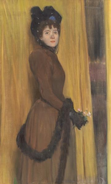 "Santiago Rusiñol, ""Miss McFlower"" (1894), Museu del Cau Ferrat"