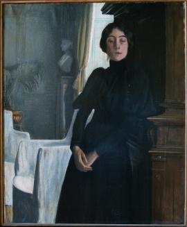 """Santiago Rusiñol, """"La senyoreta Nantas"""" (1894), Museu del Cau Ferrat"""